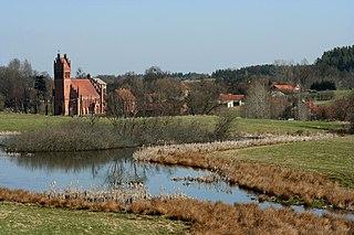 Giławy Village in Warmian-Masurian Voivodeship, Poland