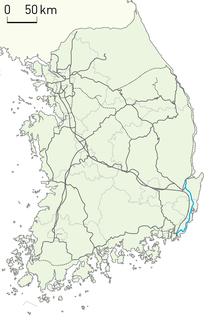 Donghae Nambu Line railway line in South Korea