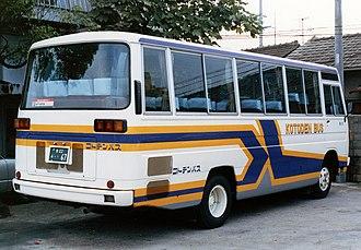 Mitsubishi Fuso Rosa - Image: Kotodenbus fuso rosabk P BK215F ria