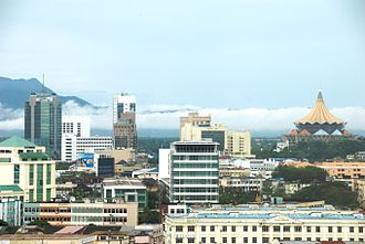 Kuching - Kuching as the commercial centre of Sarawak.