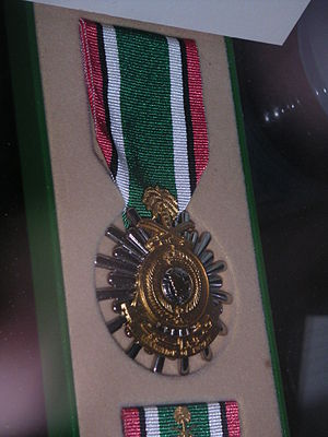 Kuwait Liberation Medal (Saudi Arabia) - Kuwait Liberation Medal, displayed at the Museum of Florida's Military in St. Augustine, Florida.