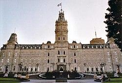 Het parlementsgebouw van Québec