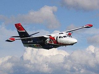 Let L-410 Turbolet Twin-engine short-range transport aircraft