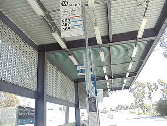 LA County+USC Medical Center station - Image: LAC & USC Med. Center Metro Silver Line Station 4