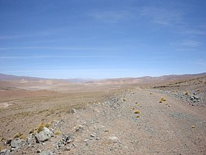 Large Latin American Millimeter Array - Image: LLAMA road to Chorrillos