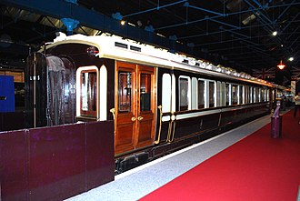 British Royal Train - King Edward's saloon of 1902 at the National Railway Museum York