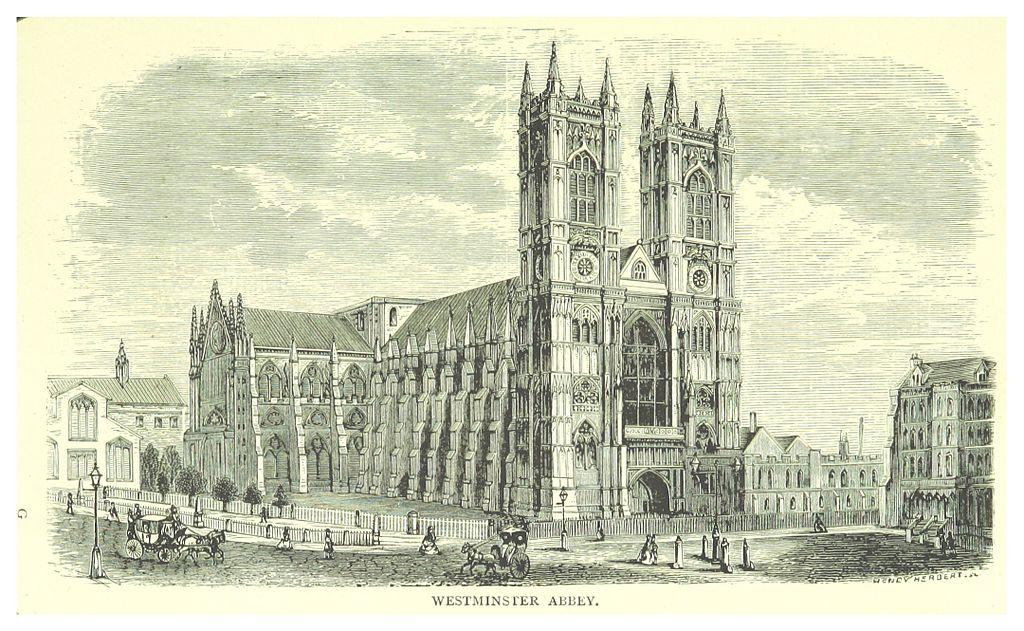 Abbaye de Westminster à Londres en 1873