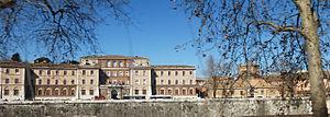 Lungotevere in Sassia - Lungotevere in Sassia with the Ospedale di Santo Spirito in Sassia