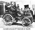 La Panhard-Levassor n°6 d'Émile Mayade, vainqueur de Paris-Marseille-Paris 1896.jpg