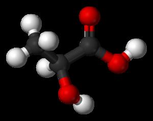 Lactic acid - Image: Lactic acid 3D balls