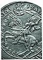 Ladislaus I of Hungary with the Hungarian crown on the guldiner of Vladislaus II of Bohemia and Hungary.jpg