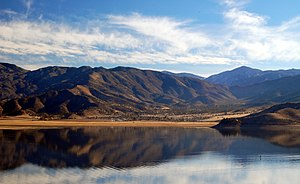 Mountain Mesa, California - Mountain Mesa viewed from across Lake Isabella