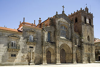 Lamego - The Cathedral of Our Lady of the Assumption, built in 1129.