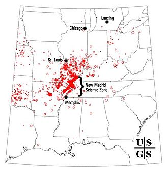 1811–12 New Madrid earthquakes - 4000 earthquake reports since 1974