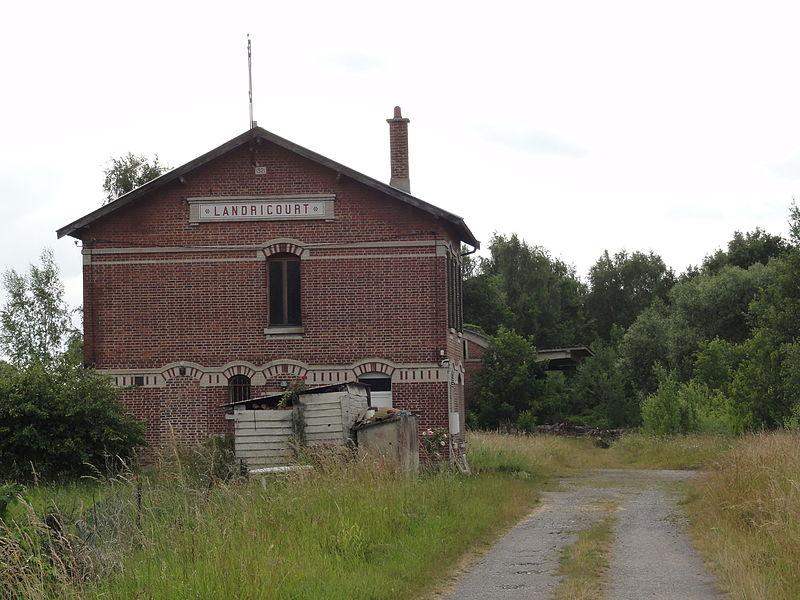 Landricourt (Aisne) ancienne gare