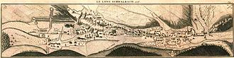 Bad Schwalbach - Map of Langenschwalbach in 1728