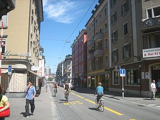 Langstrasse - Langstrasse, view toward Limmatplatz