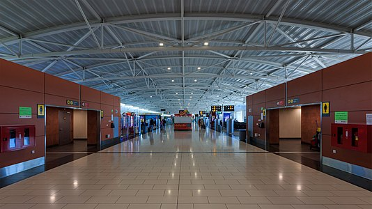 Larnaca International Airport, Cyprus: departure area