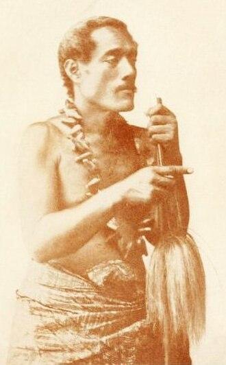 Samoa - Exiled orator Lauaki Namulau'ulu Mamoe.