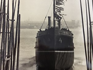 SS Peveril (1929) - Peveril is launched at Birkenhead. 25 April 1929.