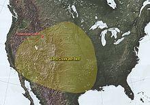 Carte des États-unis montrant l'étendue de la couche de cendres