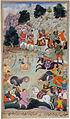 Lava and Kishu engage Lakshmana in battle.jpg