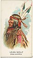 Lean Wolf, Gros Ventres, from the American Indian Chiefs series (N2) for Allen & Ginter Cigarettes Brands MET DP828036.jpg
