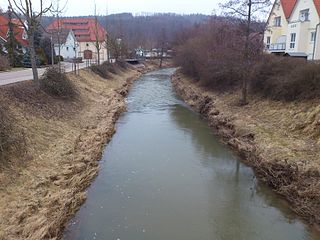 Lein (Kocher) River in Germany