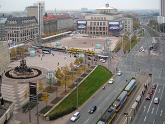 Augustusplatz - View over Augustusplatz in 2007