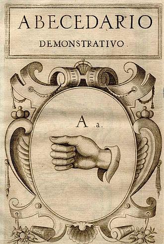 Juan Pablo Bonet - Image: Lengua de Signos (Juan Pablo Bonet, 1620) A