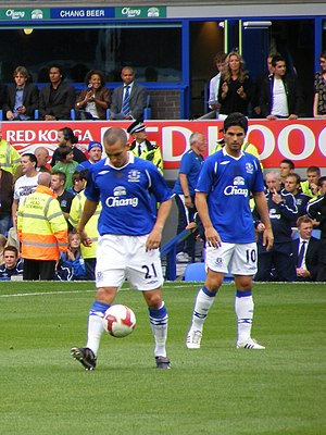 Mikel Arteta - Arteta with Leon Osman in 2008.