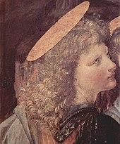 Ο άγγελος που φιλοτέχνησε ο Λεονάρντο ντα Βίντσι. (Λεπτομέρεια)