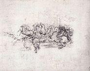 Leonardo da vinci, Group of riders in the Battle of Anghiari
