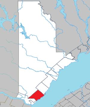 Les Bergeronnes, Quebec - Image: Les Bergeronnes Quebec location diagram