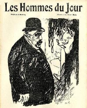Joseph Ruau - 1910 caricature by Aristide Delannoy
