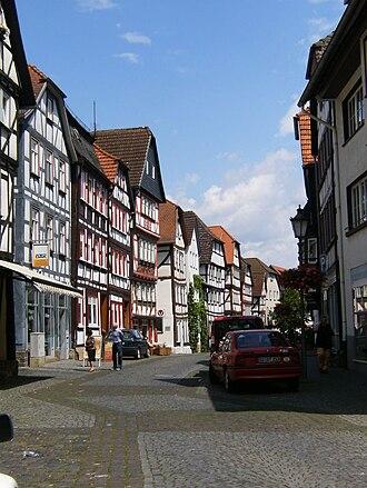 Lich, Hesse - Late medieval framework buildinga in Oberstadt road