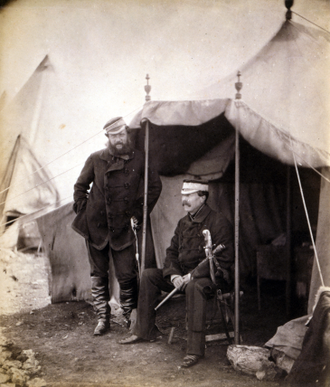 Sir John Campbell, 2nd Baronet - Captain Hume and Sir John Campbell (seated), Crimea War, Photo by Roger Fenton, Library of Congress