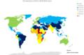 Life expectancy at birth (Both sexes) CIA factbook.png
