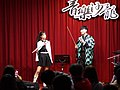 Lily and Boy talking with Demon Slayer cosplay clothing 20210321a.jpg