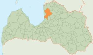 Limbaži Municipality - Image: Limbažu novada karte