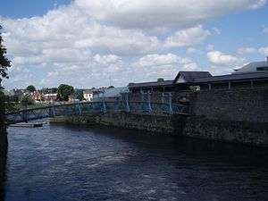 King's Island, Limerick - The Confluence of the Abbey and Shannon Rivers at the Potato Market