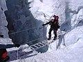 Lina Quesada-Cascada del Khumbu 2006, Expedición al Lhotse 8.516 mts., Nepal.jpg