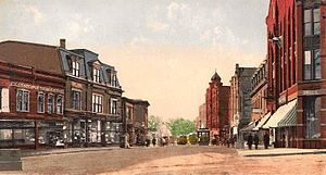 Milford, Massachusetts - Image: Lincoln Square and Main Street, Milford, MA