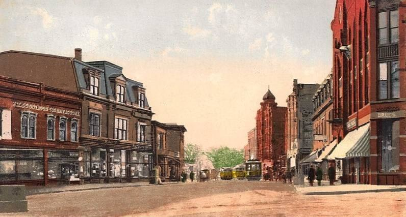 Lincoln Square and Main Street, Milford, MA