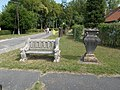 Listed vase and bench W in Fonyód, 2016 Hungary.jpg
