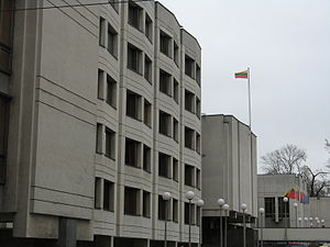 Government of Lithuania - Lithuanian Government building in Vilnius