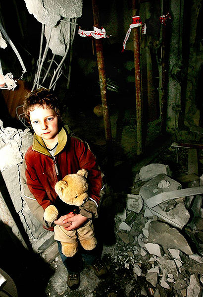 File:Little Israeli boy standing in his house that was destroyed by qassam rocket.jpg