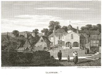 Llanfair Caereinion - Llanfair Caereinion Town Hall in 1802