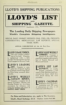 Lloyd's List advertisement Brasseys 1923.jpg