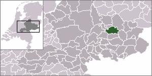 Vorden - Image: Locatie Vorden